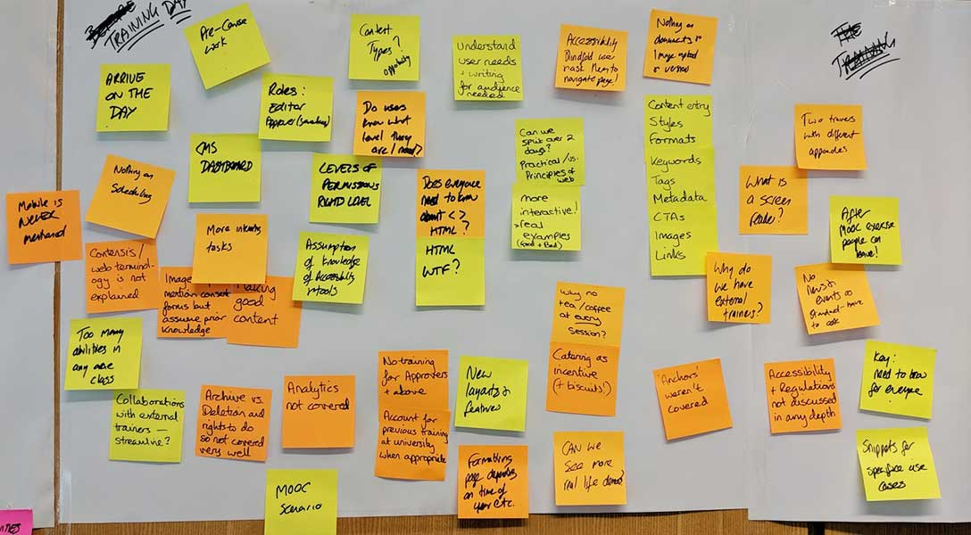 Post-it notes exercise
