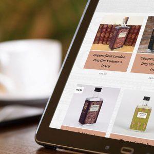 The Surrey Copper Distillery website on tablet