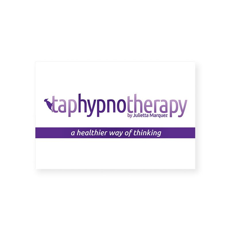 Tap Hypnotherapy business card front